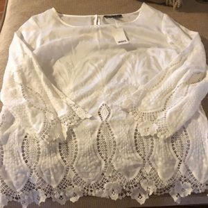 NWT banana republic lace top